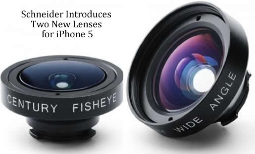 Schneider New Lenses for iPhone 5